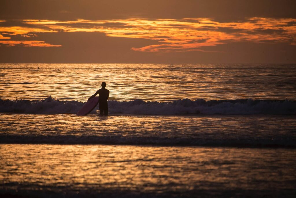 Surfing in Chile, South America, Concon