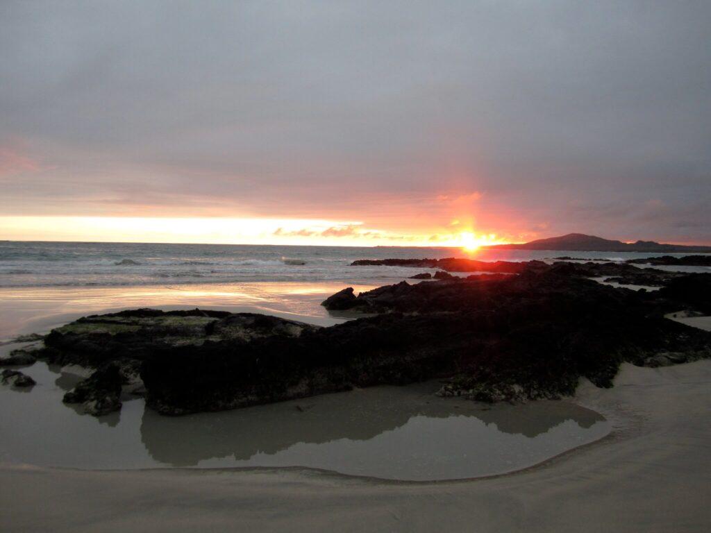 Surfing in South America, Galapagos Island, Ecuador