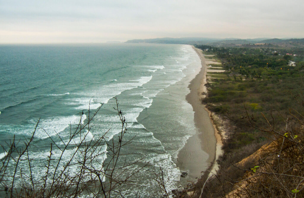 Surfing in South America, Olon, Ecuador